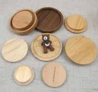 Wooden lids, screwable sealed glass jars wood cover lids