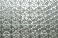 Self adhesive PVC glass decorative film, embossed