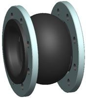 Single sphere expansion joint