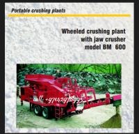 WHEELED CRUSHING PLANT WITH JAW CRUSHER