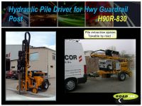Hydraulic Pile Driver for Hwy Guardrail Post