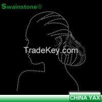 China manufacturer afro girl rhinestone transfers hot fix;wholesale hot fix afro girl transfer rhinestone; hot fix afro girl rhinestone transfers
