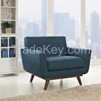 Elegant Fabric Armchair For Living Room Furniture
