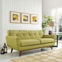 Modern Wooden Upholstery Loveseat