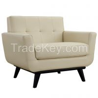 French Style Bonded Leather Armchair