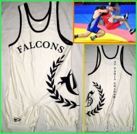 White Sleeveless Wrestling Singlet M Exercise Singlet