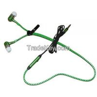 Fashionable In-ear Mobile Phone Zipper Earphones, Various Colors, Good Price, Logo Imprint Welcomed