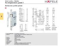 Door Locks hafele Startec