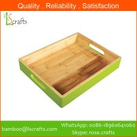Eco-Freindly Bamboo Colorful Serving Trays Storage Trays