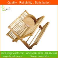 Wholesales Bamboo Folding Dish Racks Plate Racks