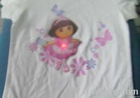 lighted cartoon pvc patch children tshirt