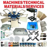 Screen Printing Machine and Chemicals