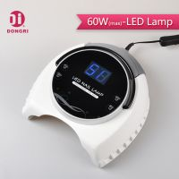 60w uv led nail curing lamp with huge ditital display
