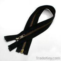 Metal Zipper with Brass Teeth