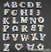 Silver bling crystal rhinestone slider Letters and numbers