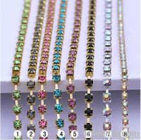 crystal cup chain/ rhinestone cup chain/strass chain/MC chaton cup cha