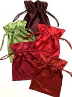 Silk satin drawstring bags