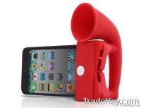 high quality silicone gram horn amplifer for iphone4