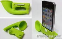 2012 new arrival silicone trumper holder for iphone