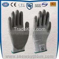 HPPE PU coated anti cut gloves