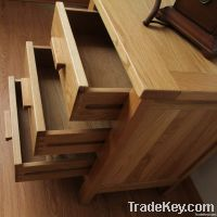 Oak 3 Drawer Bedside Chest (Oak Bedroom Furniture)