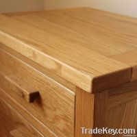 Oak 3 Drawer Bedside Chest (Oak Bedroom Furniture)