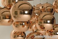 Copper Mirror Ball Pendant Lamp