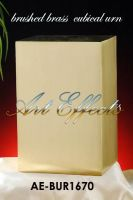 Satin Bronze Finish Brass Cube Urn