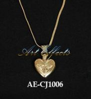 Gold Plated Heart Shaped Ash Pendant