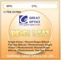 1.523/1.70 glass lenses