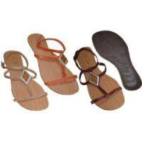 Ladies Adjustable Sandal w/ Triangle Accent Asst Case Pack 18