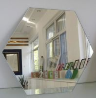 Irregular Shape, Round, Beveled Mirror