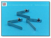 Manufacturer supplied pipe clamp, tube clamp, Spring button clip
