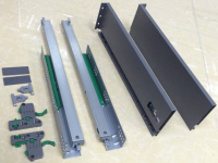 Slim tandem box drawer slide