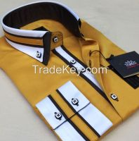 Model W1 Double collar slimfit men's shirts