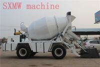 4 wheel drive concrete mixer dumper with loader