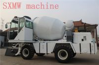 self loading mobile concrete mixer with wheels
