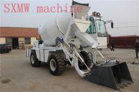 SXMW machine 4 wheel drive concrete mixer dumper with loader