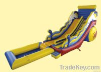 Long inflatable water slide