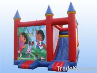 Red jumping castle