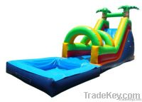 Water slide with arch