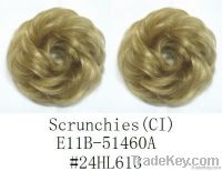 Natural Synthetic Hair Scrunchies