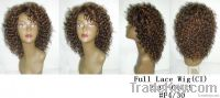 2011 Curly Synthetic / High Heat Fiber Lace Front Wig (Medium Style)