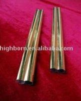 Gold coated quartz tube