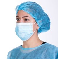 Non-Woven Mouth Mask 3Ply Medical Surgical Disposable Face Mask With Earloop