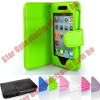 New Wallet Design Leather Case for iPod Touch 4G 4 4th Gen