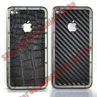Metal Framed Back Cover Housing Panel Assembly for iPhone 4G 4th