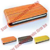 Colored Leather Case Cover Pouch for iPhone 4G 4 4th Gen