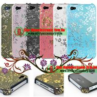 New Flower Pattern Fashionable Back Cover For iPhone 4G 4th