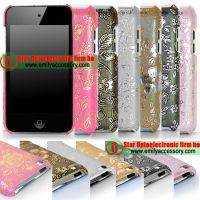 New Flower Pattern Fashionable Back Cover for iPod Touch 4G 4 th
